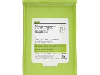 2 Neutrogena Naturals Purifying Makeup Remover Cleansing Wipes  7 ct