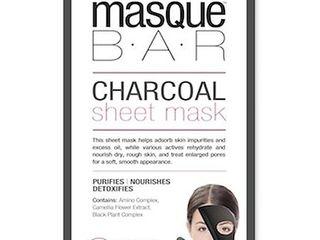 Masque Bar Charcoal Sheet Mask Charcoal   3 EA