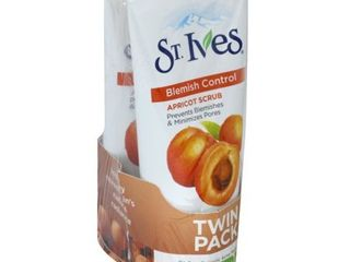 Unilever  St Ives Twin Pack Apricot Blemish Control Scrub  2 scrubs