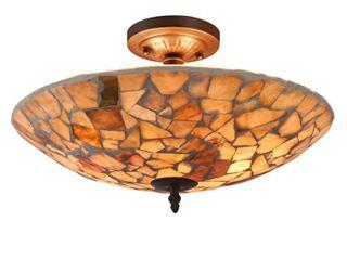 CHlOE lighting KAI Mosaic 2 light Semi flush Ceiling Fixture 16  Shade