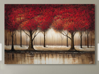 Copper Grove Cibola  Parade of Red Trees  Canvas Art
