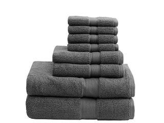 Bath Towel Set Gray  Bath Towel and Washcloth Sets