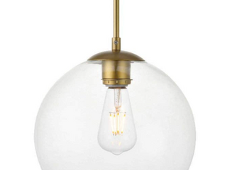 1 light Pendant with 10 inch Clear Glass