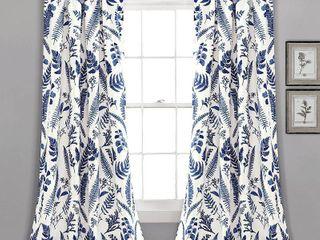 Devonia Botanical Print 52  x 84  Curtain Set