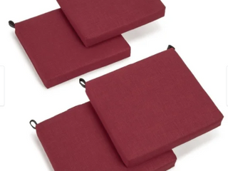 Blazing Needles 20 inch Indoor Outdoor Chair Cushion  Set of 4  Retail 81 69