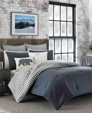 Charcoal Kingston Comforter Set  King    Eddie Bauer