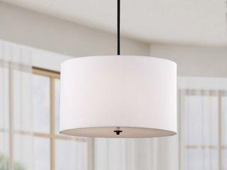 Indoor 4 light White Shade Pendant Chandelier  Retail 114 49