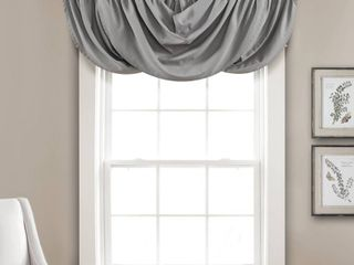 Set of 2 18 x42  lucia Window Valance Gray   lush Decor
