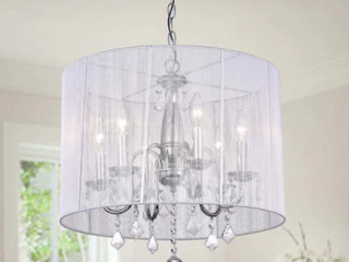 Silver Orchid Taylor Crystal Chandelier