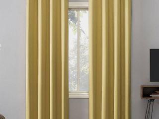 108 x52  Oslo Theater Grade Extreme Blackout Grommet Top Curtain Panel Yellow   Sun Zero