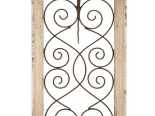 The Gray Barn Krape Rustic Distressed Ivory Wash Wood Arched Wall Panel   10 w x 20 h