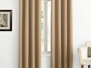 108 x54  Kenneth Energy Saving Blackout Grommet Top Curtain Panel Taupe   Sun Zero
