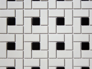 Glazed Mosaic Tiles Spiral Pattern