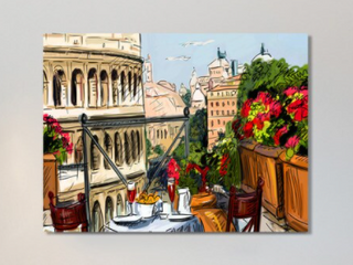 Rome  Italy  Giclee Print Canvas Wall Art