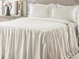 The Gray Barn lazy Acres Ticking Stripe Bedspread Set Retail 102 22