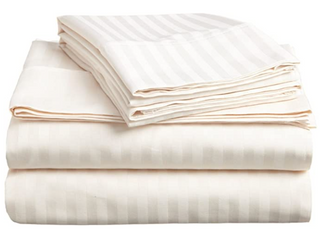 Superior 300 Thread Count Olympic Queen Sheet Set  Cream Color