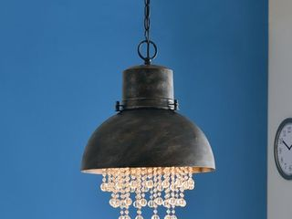 Kenroy Home Nicole Faux Corroded Metal 1 light Pendant
