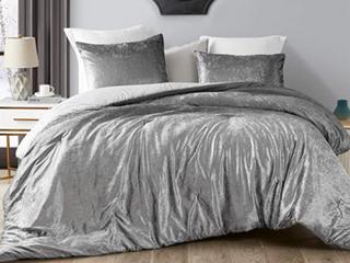 Coma Inducer Oversized Comforter Gray Velvet Oversized Queen