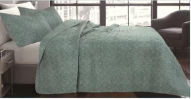 lauren Taylor Shibori 3 piece Quilt Set 102x90