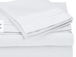 Kotter Home 3000 Series 3 lines Embroided Cal King Sheet Set
