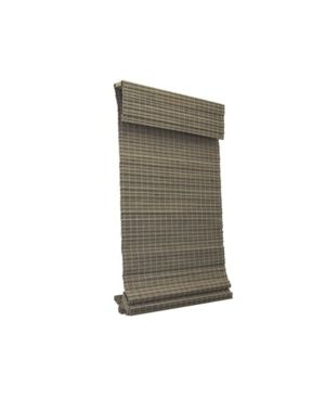 Radiance Cordless Privacy Weave Roman Shade  Driftwood