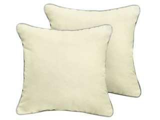 Humble   Haute Sunbrella Canvas Natural 18  Set Of Two Pillows
