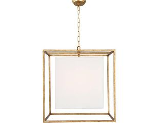 Chandelier in Antique Gold Finish   Antique Gold Finish  Retail 149 49