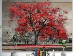 Designart Big Red Tree
