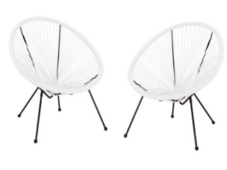 Walmart Corvus Sarcelles Woven Wicker Patio Chairs  Set of 2