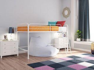 DHP Junior Metal loft Bed  Twin Size