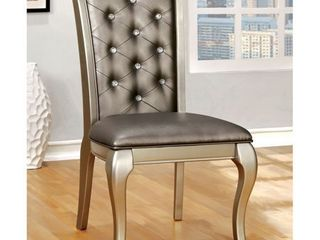 Furniture of America Mora Grey Dining Chairs  Set of 2  Retail 365 60