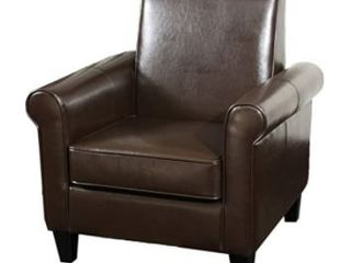Christopher Knight Home Freemont leather Club Chair  Chocolate Brown