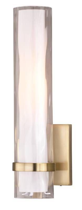Vilo 1 light Brass Bathroom Wall Fixture   4 5 in W x 13 5 in H x 4 in D Retail 144 00