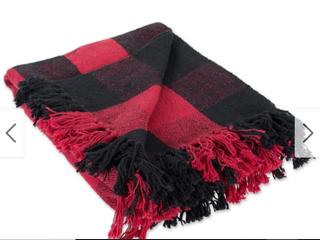 DII Buffalo Check Decorative Throw Red Black