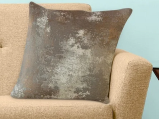 Zakhar Solid Throw Pillow Copper Square