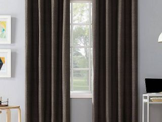 Set of 2 108 x50  Duran Thermal Insulated Total Blackout Grommet Top Curtain Panel Walnut Brown   Sun Zero