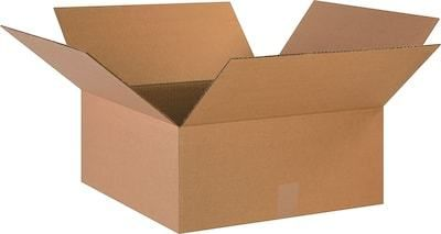 18  X 18  X 8  Cardboard Corrugated Boxes  65 lbs Capacity  Ect 32  lot Of 25