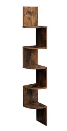 International Corner 5 Tiers Wall Shelf Wood