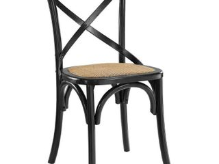 Gear Dining Side Chair Black   Modway