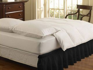 Easy Fit Eyelet Ruffled Twin Full Bedskirt Black