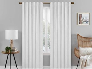Set of 2 Eclipse Nora Solid Absolute Zero Blackout Window Panel