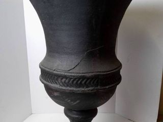 Footed Urn Black