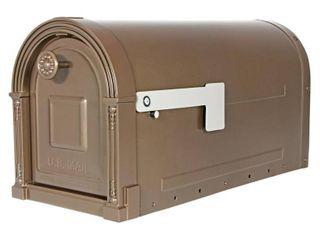 Gibraltar Mailboxes Garrison Post Mount Mailbox Bronze
