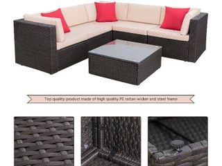 Walnew Sectional Sofa Patio Furniture