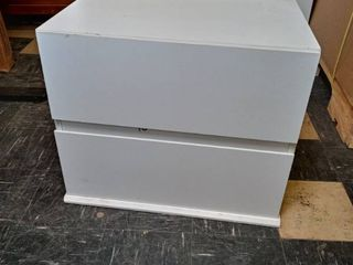 White 2 Drawer Night stand 24  x 19 3 x 16