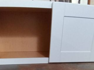 White 2 Door Cabinet  Measurements  30 W x 15 H x 13 D