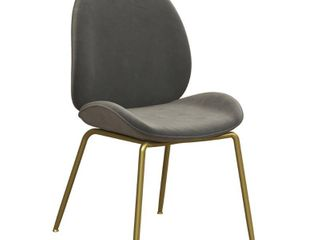 Astor Velvet Dining Chair light Gray   Cosmoliving by Cosmopolitan