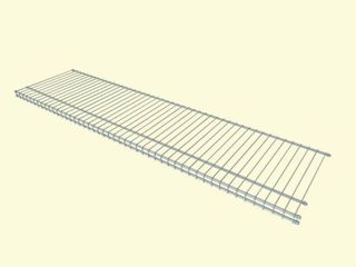 ClosetMaid 48 by 12 Inch SuperSlide Wire Shelf  White  4714