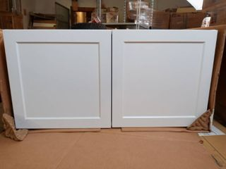 White 2 Door Cabinet  18 W x 36 H x 24 D