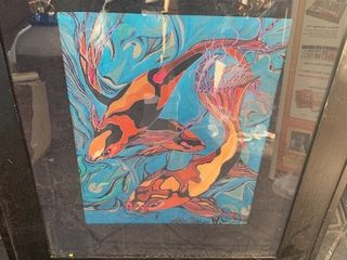 Beautiful color art piece framed in med 20 x 24